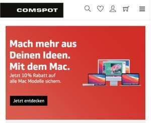 Comspot 10% auf alle Apple Macs (iMac, MacBook)
