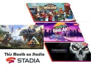 [Stadia Pro] kostenlos neu freischaltbare Sept. Spiele: ARK Survival Evolved, Legend of Keepers,Darksiders 2, Little Big Workshop Wave Break