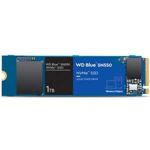 Western Digital WD Blue SN550 NVMe SSD 1TB   WD Blue 1TB SSD für 70,99€ (3D TLC, DRAMless, bis R2600/W1800, 5 Jahre Garantie)