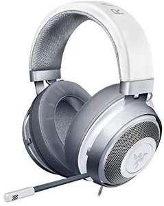 RAZER Kraken weiß Gaming-Headset (Over-ear Kopfhörer Mercury, 50-mm-Treiber, PC, Mac, Xbox One, PS4, Nintendo Switch, Kabelgebunden)