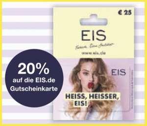20% Rabatt auf Eis.de Geschenkkarten 25€ für 20€