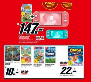 [lokal: MediaMarkt Bischofsheim] NINTENDO Switch Lite + Animal Crossing + 3 Monate Switch Online für 147€ | Crash Bandicoot 4 - 22€ | u.a.