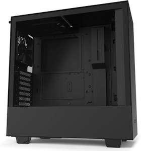 NZXT H510 ATX-Midi-Tower PC-Gehäuse (Tempered Glass Seitenfenster, Managementsystem, für Wasserkühlung nutzbar, USB-C) Schwarz