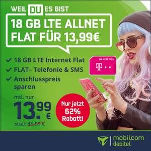 [Telekom-Netz] 18GB green LTE Tarif von mobilcom-debitel für 13,99€ / Monat mit VoLTE, WLAN Call, Allnet- & SMS-Flat
