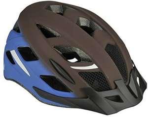 Fischer Urban Fahrradhelm für Erwachsene mit Visor, verstellb. beleuchteter Innenring, Größe S/M 52-59cm, blau-braun [Amazon Prime]