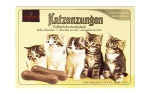 Netto mit Hund: Katzenzungen von Sarottie aus Vollmilchschokolade im 100g Pack