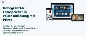 Amazon Aktionsgutschein 8 € Amazon Prime-Kunden (personalisiert) Amazon Photos-App