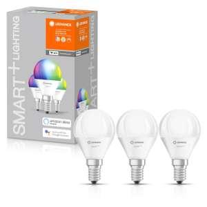 3x LEDVANCE SMART+ LED RGB E14 Wifi Tropfen