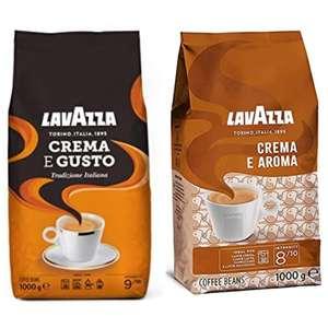 1kg Lavazza Kaffeebohnen Crema e Aroma oder E Gusto, im 5er Sparabo sogar 6,34€ möglich - Prime*Sparabo*