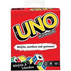 UNO Würfelspiel für die ganze Familie, mit Trockenlöschtafeln und Markern für 7,63€ (Amazon Prime)