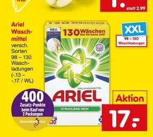 260 Waschladungen Ariel rechnerisch für 30 Euro bei Netto
