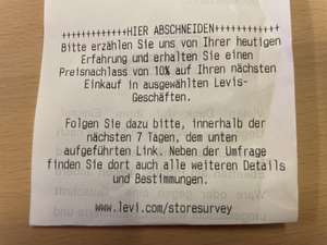 10% Levi's Coupon (Im Store oder online)