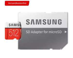 Media Markt - 2 Speicherkarten Samsung EVO Plus Micro SDXC 512GB (100MB/s Lesen, 90MB/s Schreiben, UHS-I U3 mit Adapter, Einzelpreis 55€)