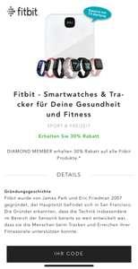 30% auf Fitbit bei Best Secret (für Diamond Member)
