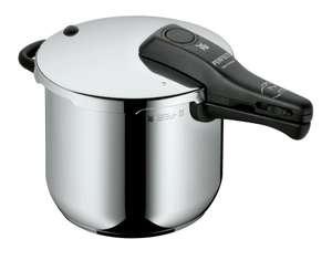WMF Perfect Schnellkochtopf Induktion 6,5l, Dampfkochtopf, Cromargan Edelstahl poliert, 2 Kochstufen, Einhand-Kochstufenregler