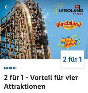 (Lidl Plus) 2 Tickets zum Preis von 1 * LEGOLAND Deutschland & Billund * Heide Park & Gardaland