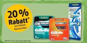 Rewe 20% auf Gillette, zb. 12 Mach3 Klingen für 19,59€ + 50fach Pb