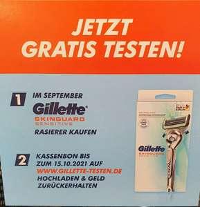 Jetzt GRATIS testen 100% Cashback auf Gillette Rasierer Skinguard (GzG)