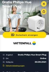 Freebie / Vattenfall my highlight app / gratis Philips hue smart