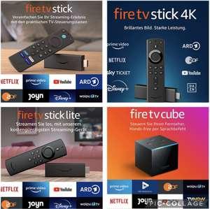 Amazon Fire TV Cube für 69€ / Fire TV Stick 4K für 29,99€ inkl. Versandkosten / Fire TV Stick Lite ab 20€ bei Abholung usw.