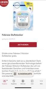 Rossmann - Febreze Duftstecker gratis, gültig bis 30.09.2021