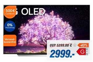LG OLED77C19LA OLED TV (77 Zoll (195 cm), 4K UHD - 500€ Cashback (effektiv 2499€)