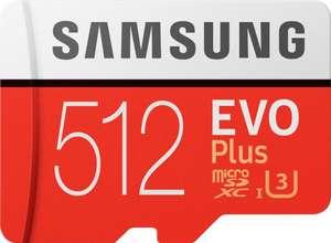 [otto up] Samsung EVO Plus 2020 R100/W90 microSDXC 512GB Kit, UHS-I U3, Class 10 (MB-MC512HA/EU) für 49,99€ mit Liefer-Flat