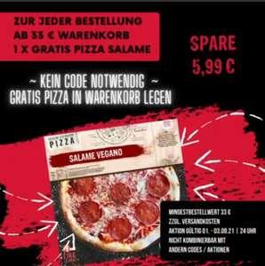 Eine vegane Pizza gratis ab 33€ MBW