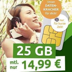 [Telekom-Netz] 25GB LTE Telekom green Data XL Datentarif von mobilcom-debitel für mtl. 14,99€ + 0€ AG