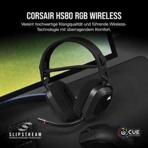 Corsair HS80 RGB Wireless Gaming Headset (Corsair Slipstream Technologie, Dolby Atmos, RGB)