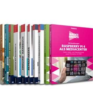 """Franzis E-Book-Paket """"Maker-Projekte"""" ( 10 Bestseller: z.B.:Arduino/Raspberry Pi - programmieren, Heimwerker - Know-how, 2.467 Seiten )"""