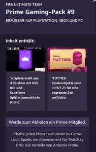 [Twitch Prime] Fifa 21 #9 + 10September Pack loot