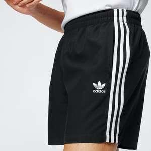Adidas 3-Streifen Badeshorts in black twill *nur noch Gr. S*
