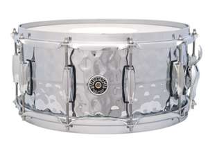 """Gretsch Drums USA Brooklyn 14"""" x 6,5"""" Hammered Chrome over Brass Snare"""