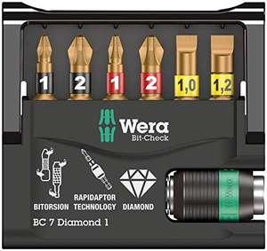 [Amazon Prime] Wera Bit-Check 7 Diamond 1 SB, 7-teilig (Wera 05073419001)