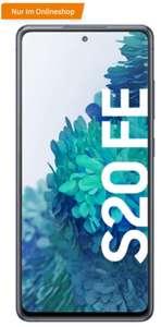 Samsung Galaxy S20 FE (Snapdragon) cloud navy + Charger Pad + Google Nest Hub im MD green LTE Allnet 5GB für 17,99€/Monat, 4,95€ einmalig