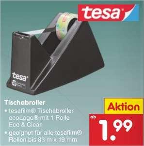 Tesa Abroller inklusiv eine Rolle Tesafilm oder 10 Rollen Tesafilm für jeweils 1,99 Euro [Netto MD]