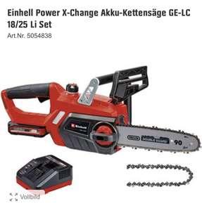 Obi: Einhell Power X-Change Akku-Kettensäge GE-LC 18/25 Li Set