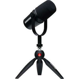 Shure MV7 Podcast Kit Mikrofon Schwarz