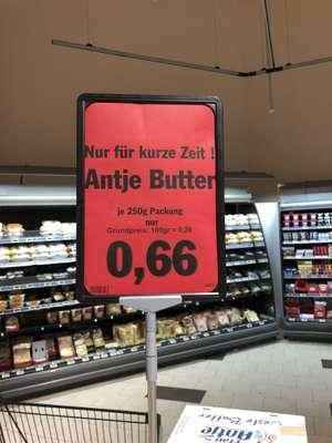 Lokal Oberhausen (NRW) Antje Butter 250g 0,66 € (2,64 €/kg) MHD 11.09.2021