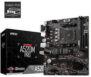 MSI A520M PRO AMD Socket AM4 DDR4 Micro ATX [Amazon]