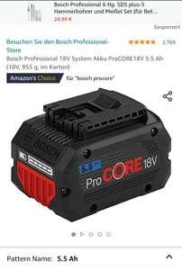 Amazon (Prime) Bosch Professional 18V System Akku ProCORE18V 5.5 Ah