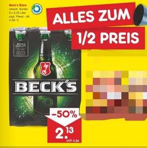 Netto MD Becks 6 Packs verschiedene Sorten am Freitag, 10.9.