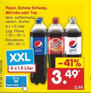 Netto MD 6 Pack Pepsi 1,5 ltr verschiedene Sorten lokal BaWü?