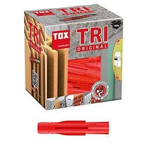TOX Allzweckdübel Tri 5 x 31 mm, Dübel für fast alle Baustoffe, 100 Stück je 2,67/ 2 Mindestb. (Prime)