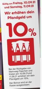 10% Mehr Pfandgeld auf alle Mehrwegflaschen & Getränkekisten