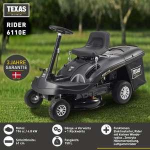 (Norma Online) Texas Rider 6110E Aufsitzrasenmäher für €824,95 oder Rasentraktor XC140-98 für €1.434,25