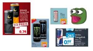 Energy Drink Angebote vom 6.09 - 11.09 z.B. 28 Black Energy für 0.74€ oder Monster und Reign für 0.88€
