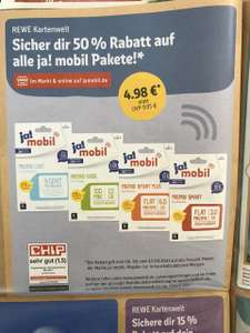 [REWE] ja!mobil Prepaid Karte Start Paket 1/2 Preis, Freebie möglich Dank 500 Payback-Punkten