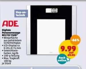ADE BE1722 Ylvie digitale Personenwaage (bis 180kg, LCD Display, Sicherheitsglas) mit Penny App Rabatt 8,99€ + mit Payback 7,39€ mgl